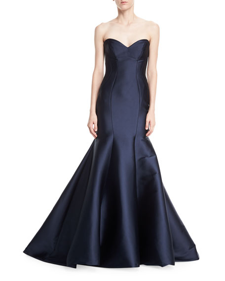 Strapless Stretch-Mikado Trumpet Gown