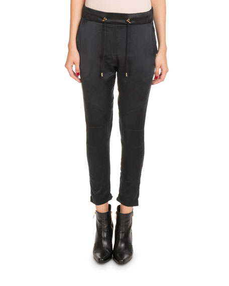 Balmain Drawstring Sateen Jogger Pants and Matching Items