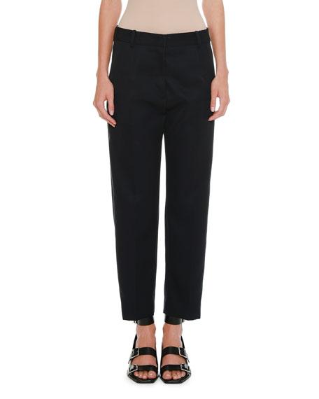 High-Waist Straight-Leg Wool-Mohair Pants