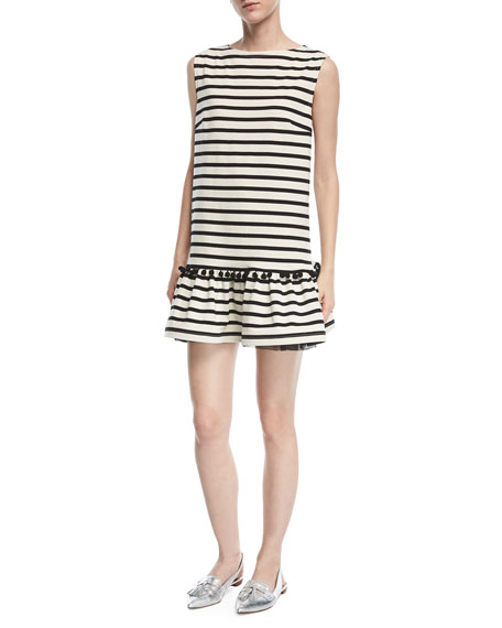 Marc Jacobs Sleeveless Striped Peplum Dress