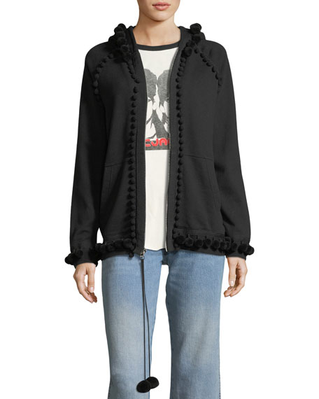 Marc Jacobs Pompom Zip-Front Sweatshirt and Matching Items