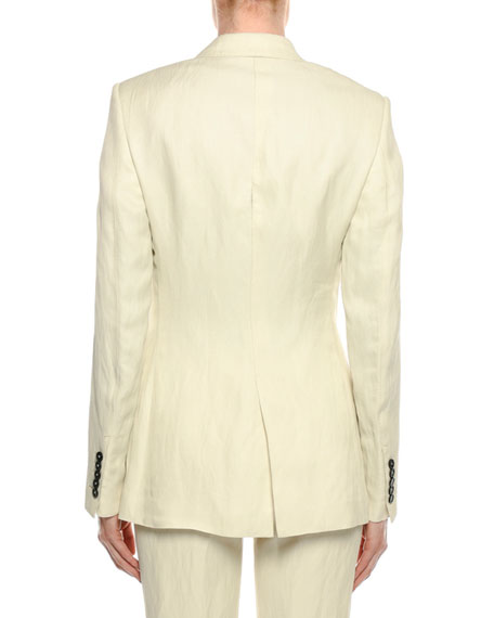 Viscose/Linen One-Button Jacket