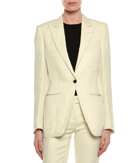 TOM FORD Long-Sleeve Round-Neck Cotton Top and Matching