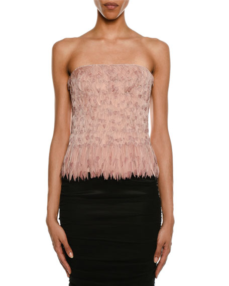 Degrade Feather Bustier Top