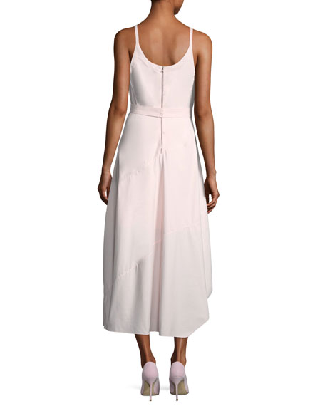 Sleeveless Belted Asymmetric Dress