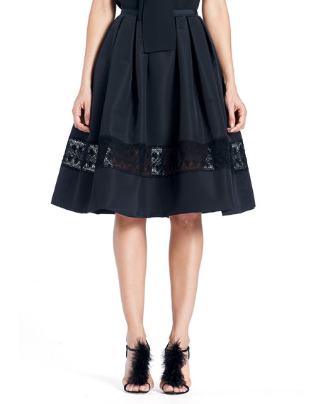 Carolina Herrera Full Silk Faille Cocktail Skirt with
