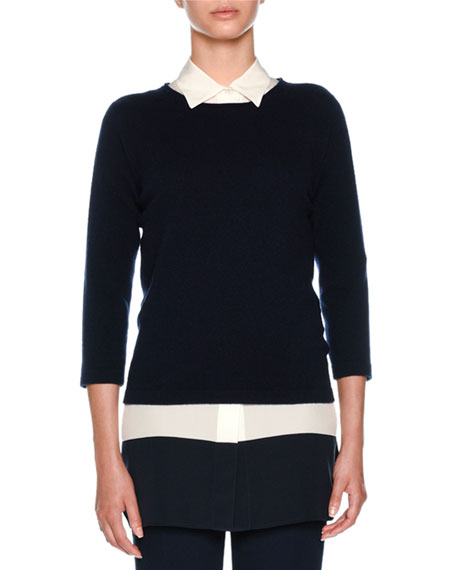 Agnona Straight-Leg Cropped Wool Trousers and Matching Items