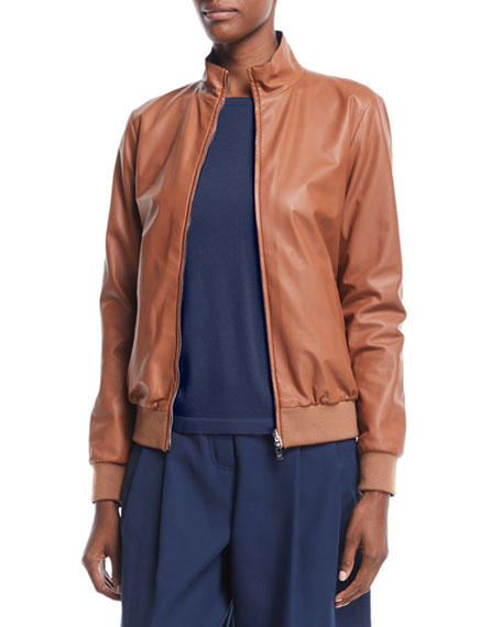 Loro Piana Reversible Storm System® & Leather Bomber