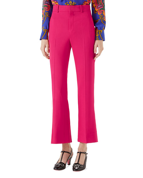 Gucci Viscose Ankle-Length Boot-Cut Pants