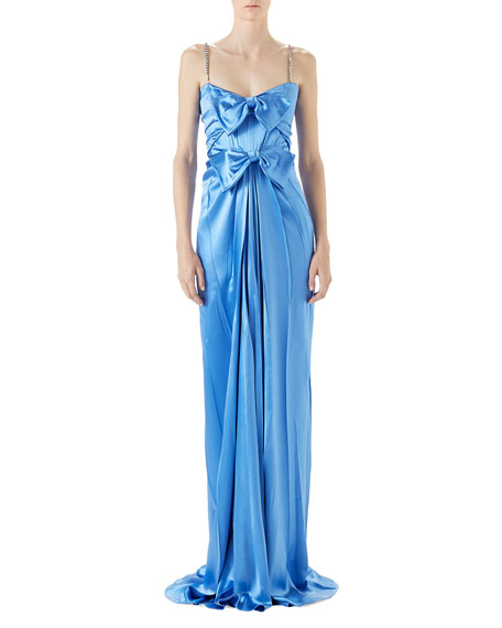 Gucci Satin Draped Gown