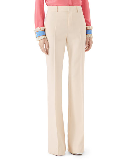 Wool Flare Pants