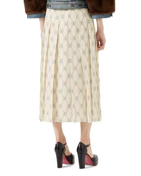 GG Rhombus-Print Skirt