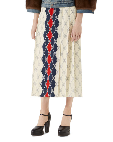 Gucci GG Rhombus-Print Skirt