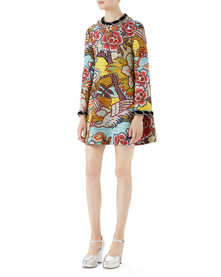 Gucci Landscape-Print Dress