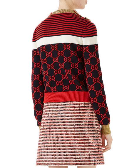 GG Intarsia Knit Top