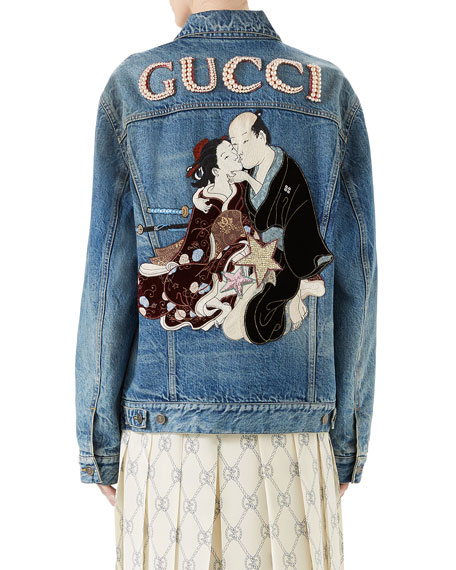 Denim Jacket with Applique