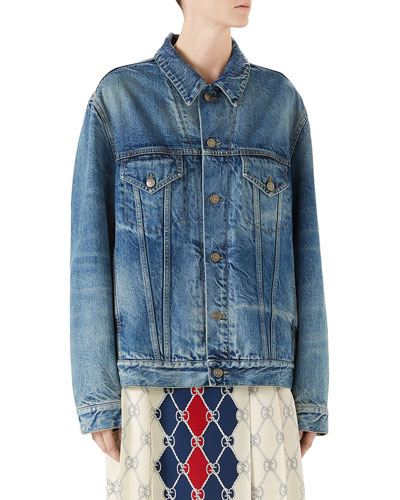Denim Jacket with Applique