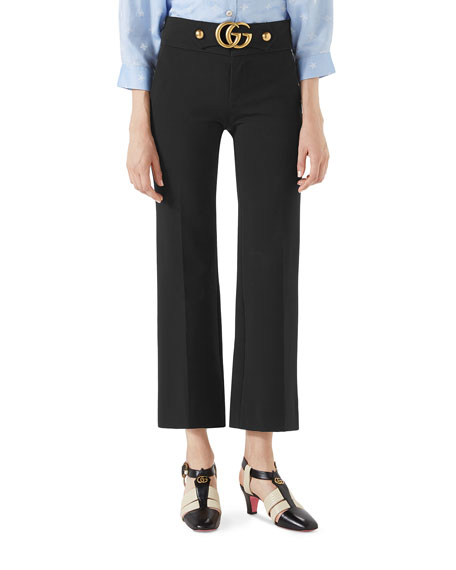 Gucci Stretch-Viscose Pants with Double G and Matching