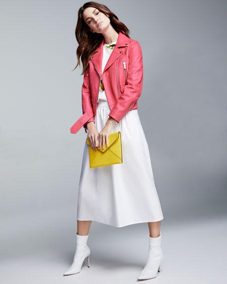 A-Line Cotton-Poplin Ankle-Length Midi Skirt