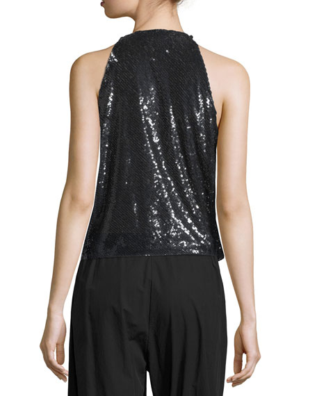 Image 2 of 2: Urban Zen Sequined Draped Transformer Top