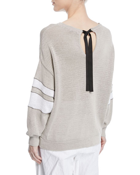 Arm Knitting Sweater : Brunello cucinelli knit pullover sweater w arm band
