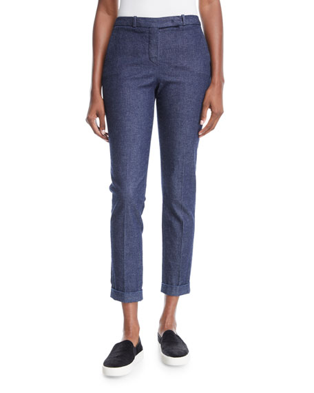 Davis Skinny Chambray Ankle Pants