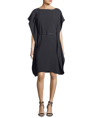 Side-Drape Matte Silk Side-Drape Silk Dress