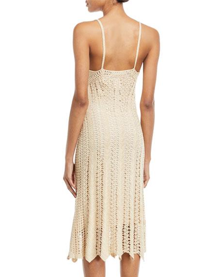 Sleeveless V-Neck Crochet Camisole Midi Dress