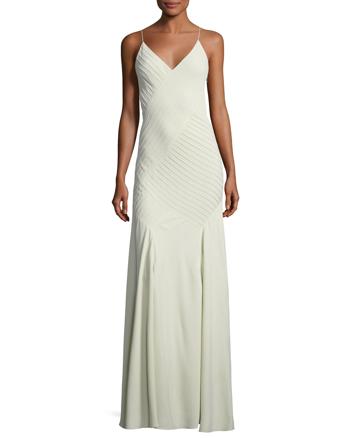 Ralph Lauren Collection Augustina V-Neck Sleeveless Pintucked ...