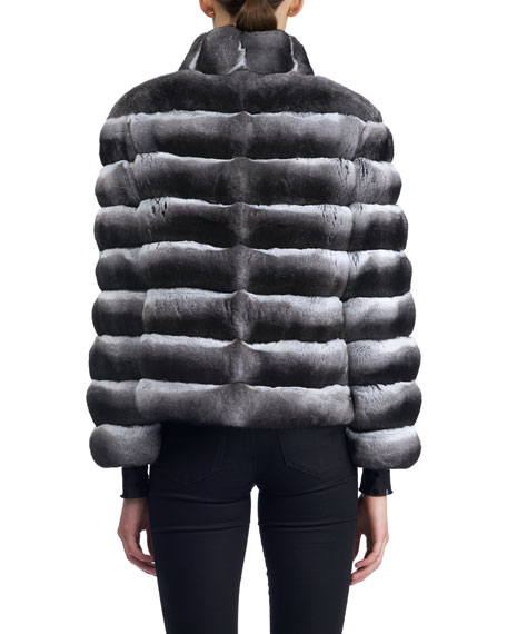 Horizontal Chinchilla Jacket