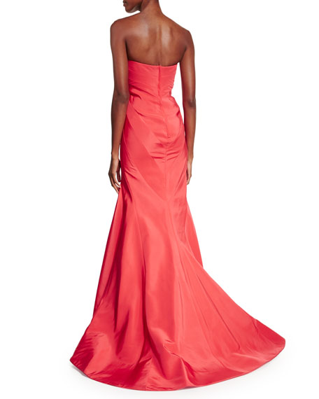Strapless Sweetheart Gown, Flamingo Pink
