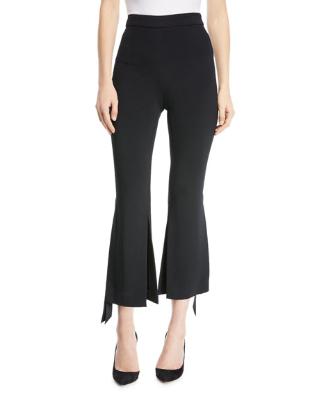 Cushnie Et Ochs Salma Cropped Pants with Ribbon