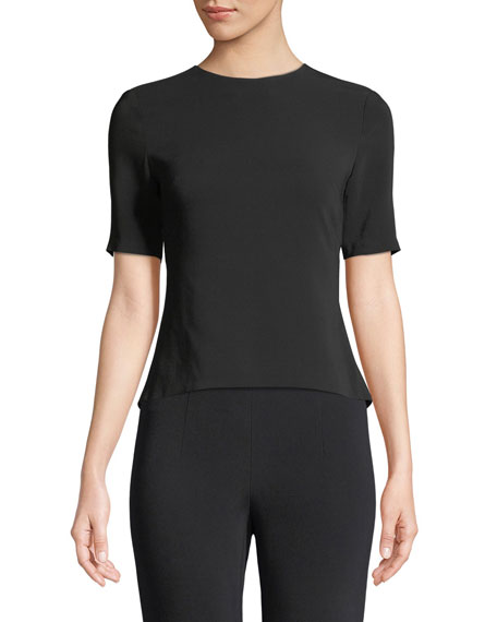 Cushnie Et Ochs Adia Short-Sleeve Open-Back Blouse with