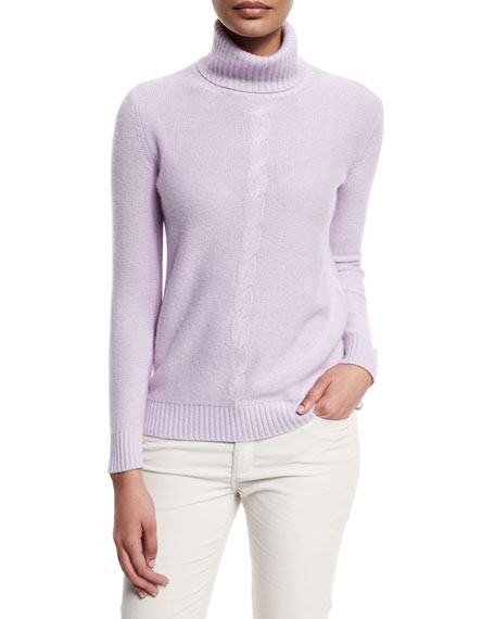 Loro Piana Long-Sleeve Turtleneck Cashmere Sweater