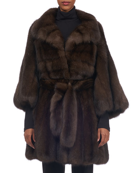 Sable-Fur Stroller Coat