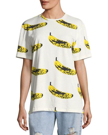 Crewneck Velvet Banana T-Shirt