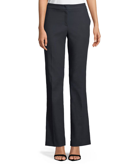 Escada Tsegana Boot-cut Cotton Twill Pants