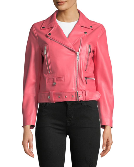 Route Classic Leather Moto Jacket