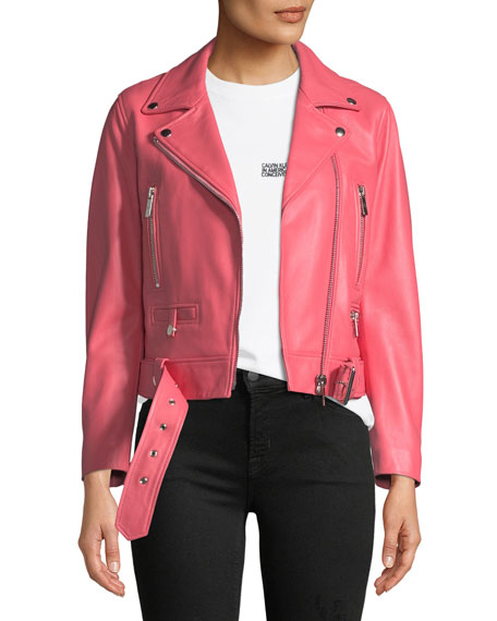 Nour Hammour Route Classic Leather Moto Jacket