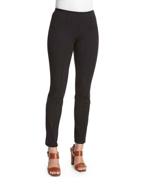 Michael Kors Collection Mid-Rise Skinny Pants, Black
