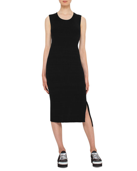 Akris punto Sleeveless Knit Midi Dress