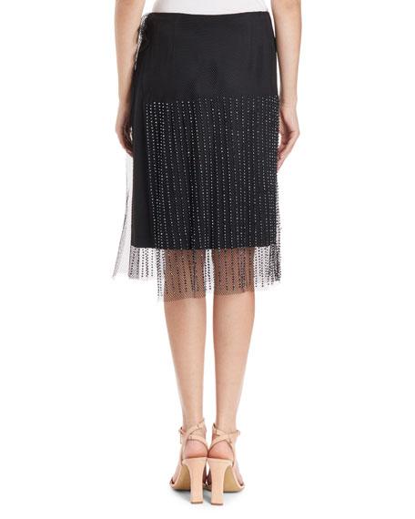 Mesh Overlay Skirt w/ Jet Beads