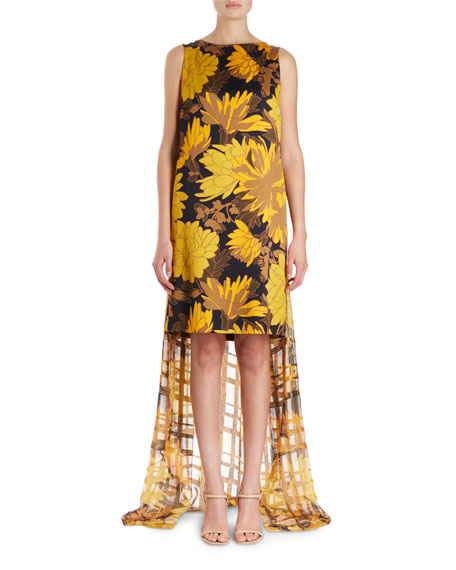 Dries Van Noten Domy Sleeveless Short Floral Dress