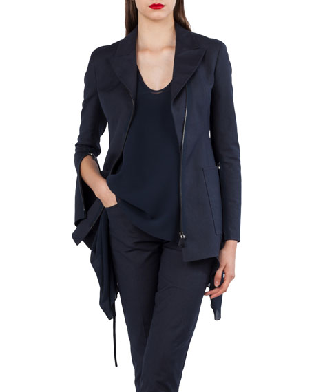 Akris Double-Face Stretch-Sateen Jacket