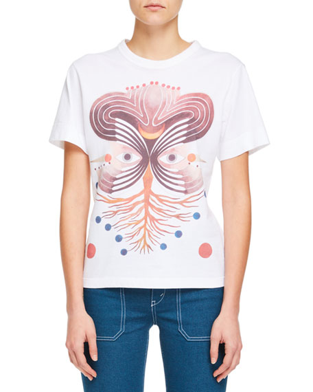 Short-Sleeve Graphic-Print Cotton Jersey T-Shirt