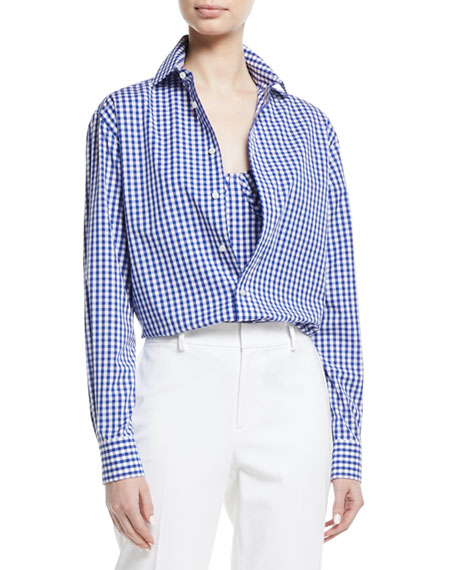 Ralph Lauren Collection Adrien Gingham Check Cotton Shirt