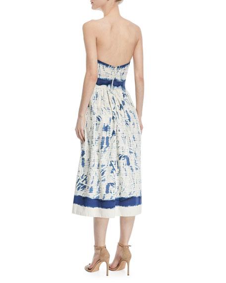 Sheena Painted Strapless Cotton Dress