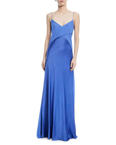 Myles Satin Georgette Gown