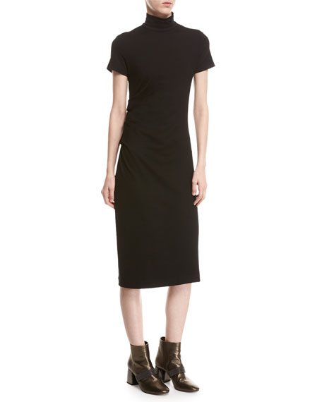Short-Sleeve Jersey Monili-Shoulder Dress Brunello Cucinelli 2018 New VuHcbWG