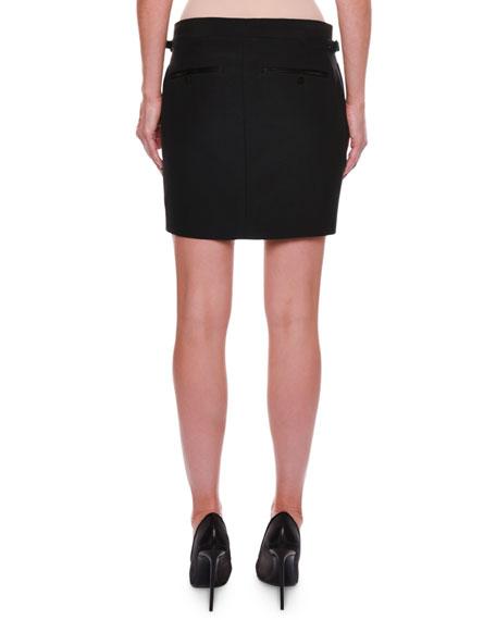 Tuxedo-Stripe Skirt
